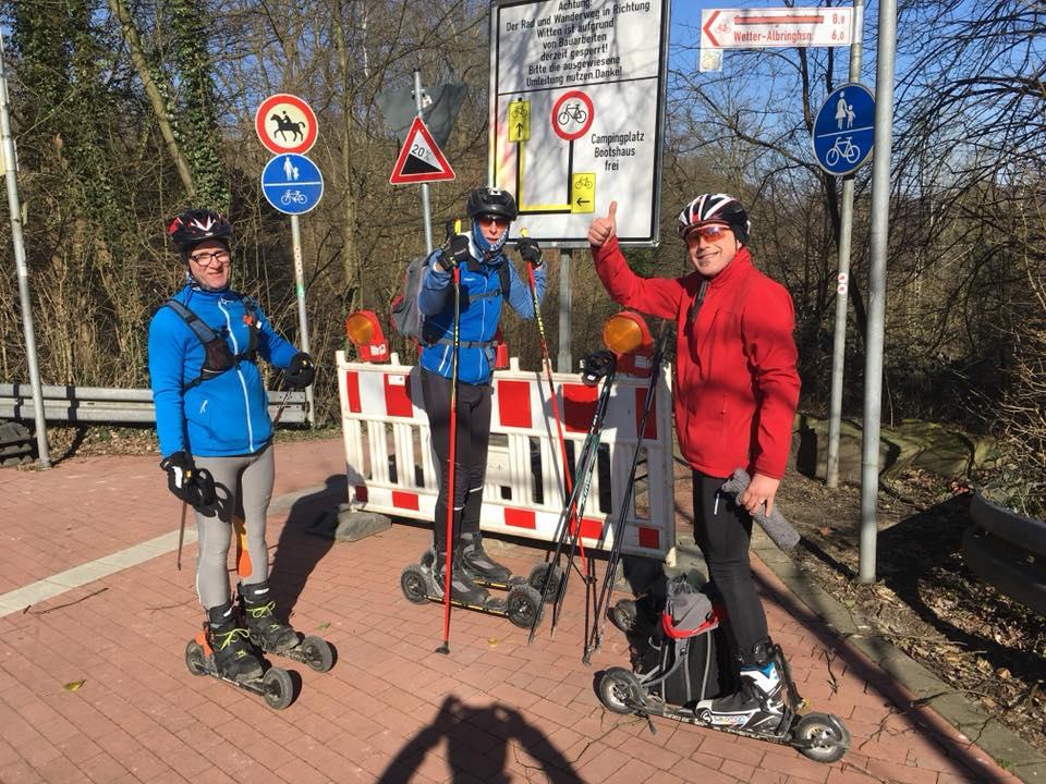 rollski srb Skike Langlauf Ruhrtalradweg