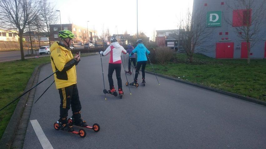Cross-Skating Rollski Skiroller Langlauf Biathlon Kurs Dortmund NRW Ruhrgebiet Hagen Sauerland